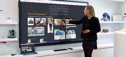 écran interactif installation prise en main école entreprise